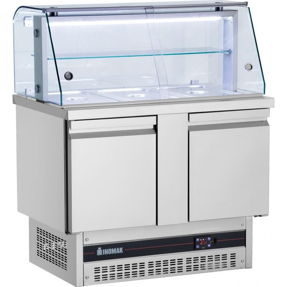Ψυγείο Πάγκος με μηχάνημα Βάσης